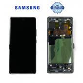 Дисплей Samsung G770 Black S10 Lite (GH82-21672A) сервисный оригинал в сборе с рамкой