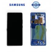 Дисплей Samsung G770 Blue S10 Lite (GH82-21992C) сервисный оригинал в сборе с рамкой