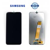 Дисплей Samsung A015 Black А01 2020 (GH81-18209M) сервисный оригинал (без рамки) широкий коннектор