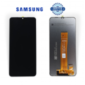 Дисплей Samsung A125 Black A12 2020 (GH82-24491) сервисный оригинал (без рамки)