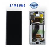 Дисплей Samsung N970 White Note 10 (GH82-20818B) сервисный оригинал в сборе с рамкой