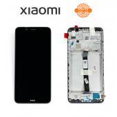Дисплей Xiaomi Redmi 7A Black (5600020K7A00) сервисный оригинал в сборе с рамкой