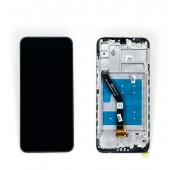 Дисплей Huawei Honor 8A с сенсором и рамкой, черный (оригинальные комплектующие)
