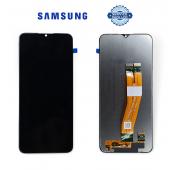 Дисплей Samsung A025 Black А02s 2021 (GH81-18456A) сервисный оригинал (без рамки)