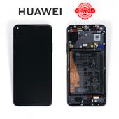 Дисплей Huawei Honor 20 / Nova 5T Black (02352TMU) сервисный оригинал в сборе с рамкой, акб и датчиками