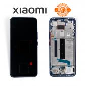 Дисплей Xiaomi Mi 10 Lite Blue (56000300J900) сервисный оригинал в сборе с рамкой