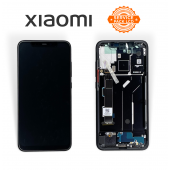 Дисплей Xiaomi Mi 8 Black (5606100400B6) сервисный оригинал в сборе с рамкой