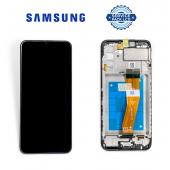 Дисплей Samsung A025 Black А02s 2021 (GH81-20118A) сервисный оригинал в сборе с рамкой