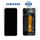 Дисплей Samsung A125 Black A12 2020 (GH96-14116А) сервисный оригинал в сборе с рамкой