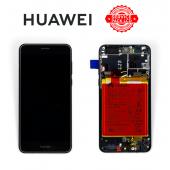 Дисплей Huawei Honor 8 Black (02350USN) сервисный оригинал в сборе с рамкой, акб и датчиками