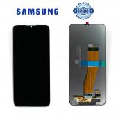 Дисплей Samsung A037 Black А03s 2021 (GH82-20118B) сервисный оригинал (без рамки)