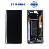 Дисплей Samsung N960 Black Note 9 (GH97-22269A) сервисный оригинал в сборе с рамкой