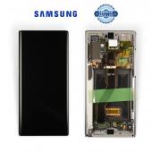 Дисплей Samsung N975 Silver/Aura Glow Note 10+ (GH82-20838C) сервисный оригинал в сборе с рамкой