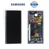 Дисплей Samsung N970 Black Note 10 (GH82-20818A) сервисный оригинал в сборе с рамкой