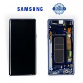 Дисплей Samsung N960 Ocean Blue Note 9 (GH97-22269B) сервисный оригинал в сборе с рамкой