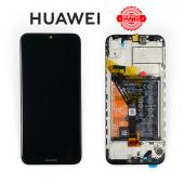 Huawei Y6 2019 Black (02352LVM) сервисный оригинал с рамкой, акб и датчиками