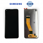 Дисплей Samsung A115 Black A11 2019 (GH81-18760A) сервисный оригинал (без рамки)
