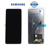 Дисплей Samsung A215 Black A21 2020 (GH82-22988B) сервисный оригинал (без рамки)